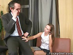Juvenile lady doesn't do anything particular to tempt her strict teacher this babe just showed him what this babe can do to his schlong.