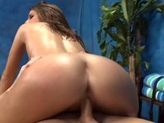 Sexy hawt honey copulates and sucks her massage therapist